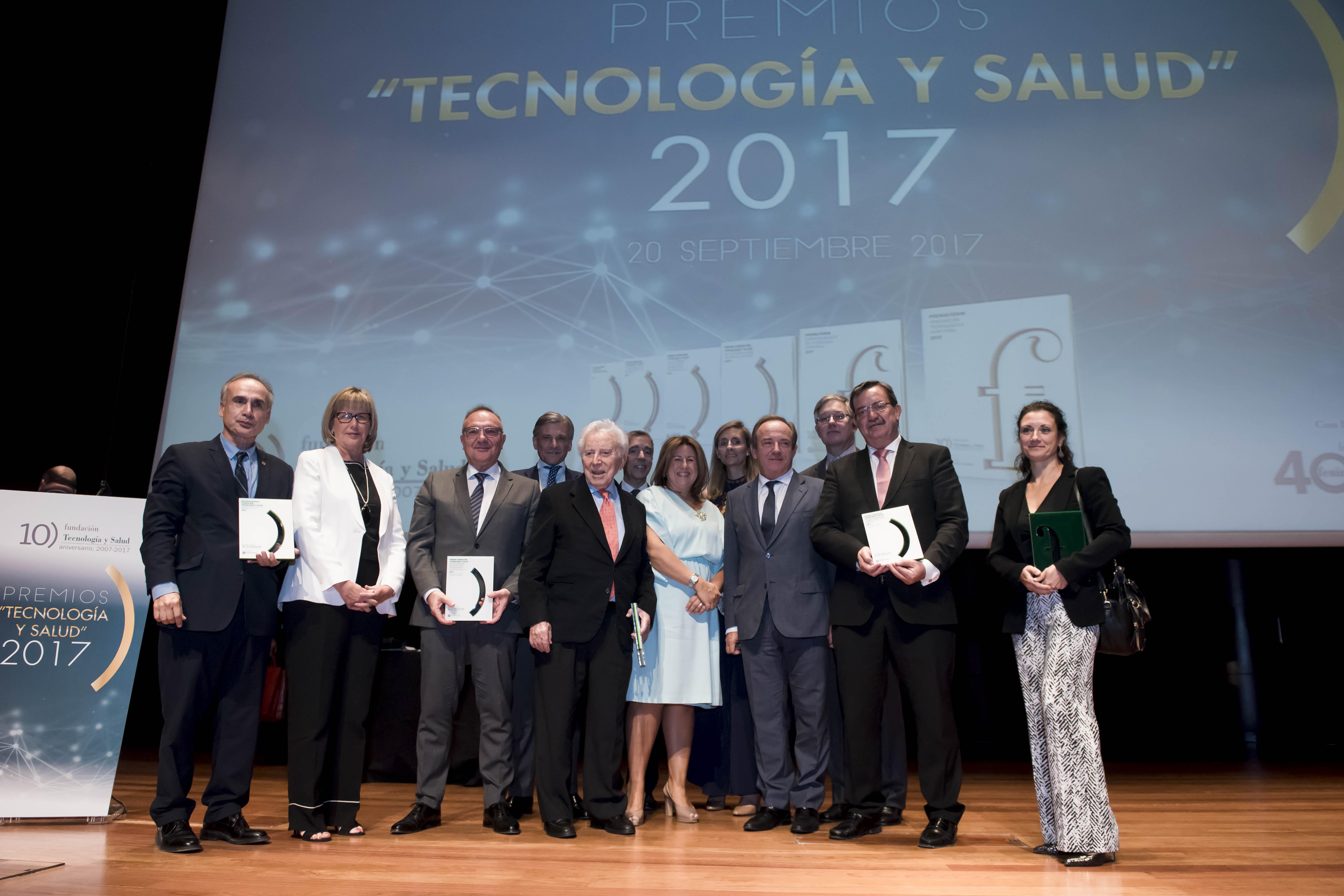 """La Fundación Tecnología y Salud, en su X Aniversario, entrega los """"Premios Tecnología y Salud 2017�"""