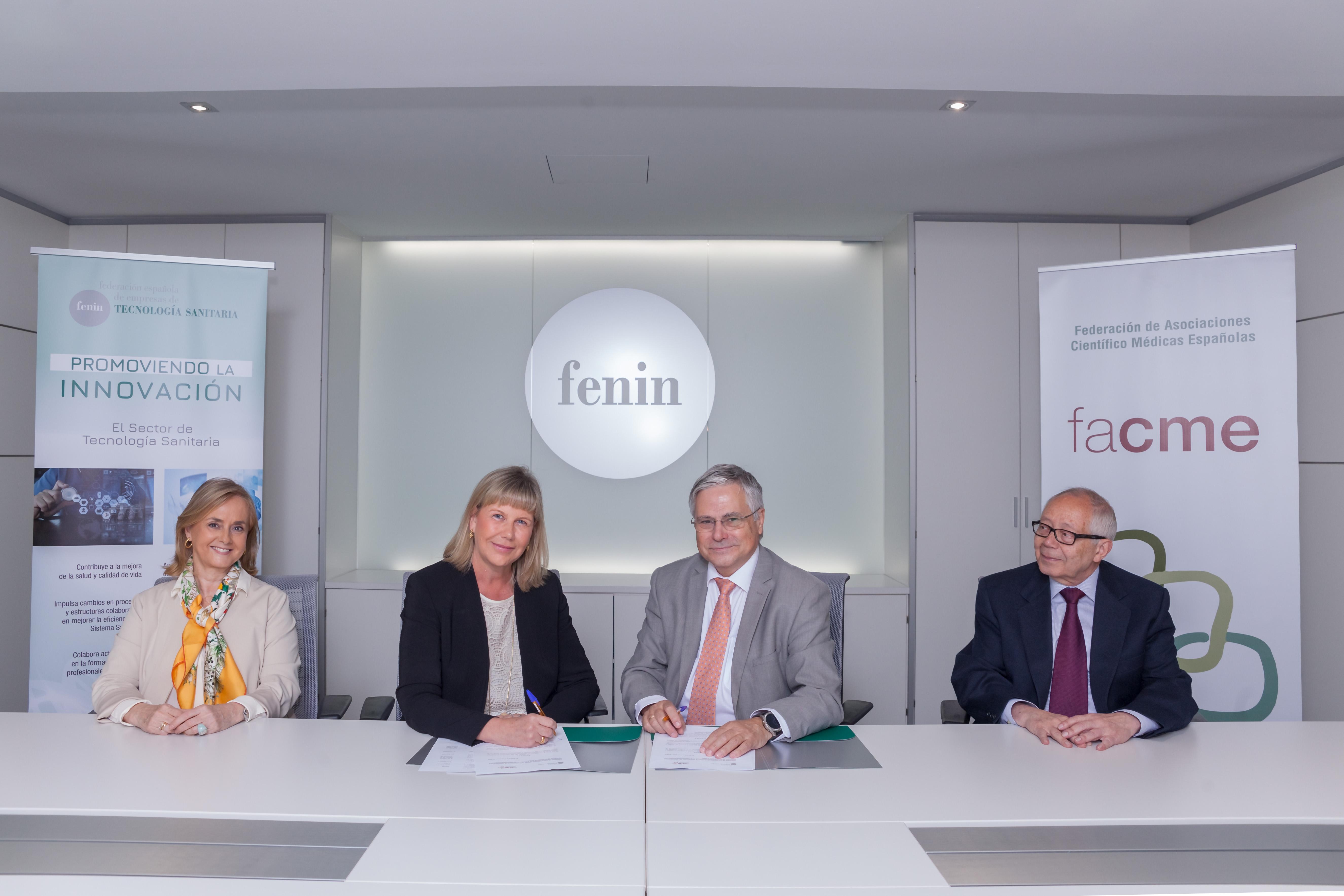 Fenin y FACME firman una alianza para impulsar proyectos que mejoren la sostenibilidad del sistema sanitario
